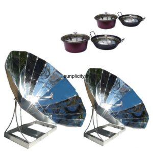 Fours solaires SUNplicity et leurs lots de récipients