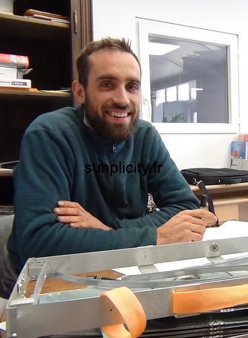Vincent Legris from La Fabriculture, partner manufacturer of the solar cooker SUNplicity.