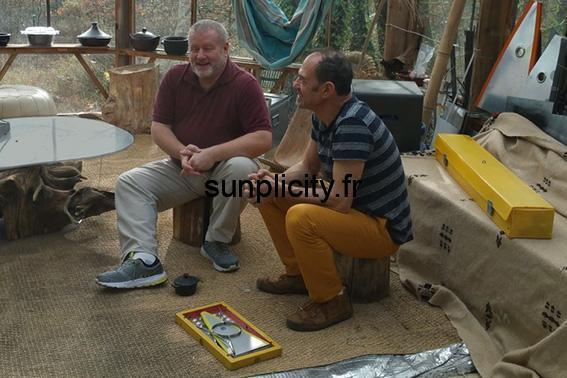 Luther Krueger visits Alain Bivas to talk about solar cooking