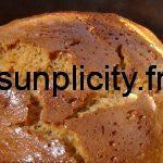 Gâteau au caramel cuit au four solaire
